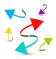 colorful arrows set islated on white background vector image vector image