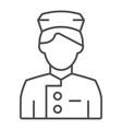 concierge thin line icon butler vector image vector image