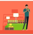 Customer in Grocery Store vector image vector image