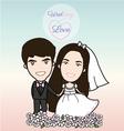 Cute Bride and groom vector image vector image