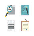cv icon set flat style vector image