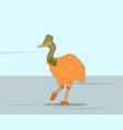 dinosaur bird stands on nature vector image vector image