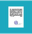 document with stamp seal and signature official vector image