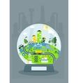 ecology glass ball vector image vector image