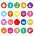 Education flat icons on white background vector image vector image