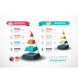 eight steps infographic design with pyramid data vector image