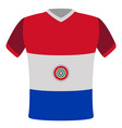 flag t-shirt of paraguay vector image vector image