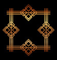golden art deco frame royal decorative geometric vector image vector image