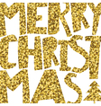 Happy Merry Christmas Golden glittering vector image vector image