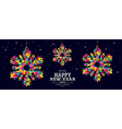 Happy New Year 2015 snowflakes card design vector image vector image