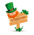 happy saint patricks day card vector image vector image