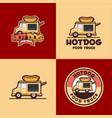 hot dog logo template vector image vector image