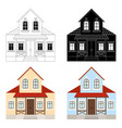 house set two-storey residential building vector image vector image