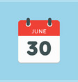 icon calendar day 30 june summer days year