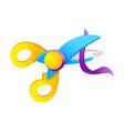 icon scissors vector image vector image