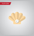 isolated pearl flat icon conch element can vector image vector image
