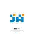 ja or aj logo letter initial design template