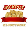 jackpot isolated shining banner vector image vector image