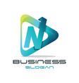 letter n media logo