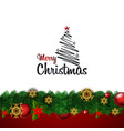 merry christmas decorative vintage background vector image vector image