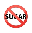 no sugar sign vector image