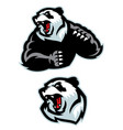 panda in sport mascot angry set vector image vector image