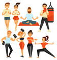 people fitness and sport exercise or training vector image vector image
