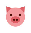 pig head farm icon vector image