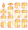 Pink and Yellow Buttons Set vector image