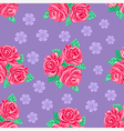 Pink roses seamless background vector image vector image