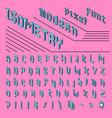 pixel isometric font 8-bit symbols 3d digital vector image vector image