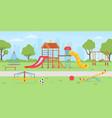 playground at park school or kindergarten vector image