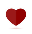red heart isolated icon in flat style vector image