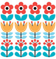 scandinavian seamless pattern swedish folk art vector image
