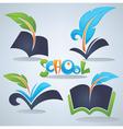 school symols vector image vector image