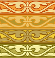 Set of decorative borders vintage style gold vector image
