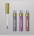 set of realistic liquid lipstick 3d vector image vector image