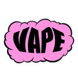 smoke vape icon cartoon vector image vector image