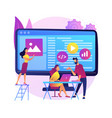 software development team abstract concept vector image vector image