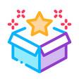 star bonus box icon outline vector image vector image