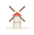 traditional rural windmill building ecological vector image vector image