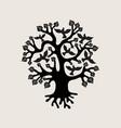 tree birds silhouette vector image vector image
