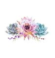 Watercolor lotus vector image vector image
