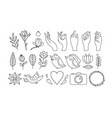 wedding photo logo and plant products vector image vector image