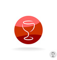 Wine glass logo template vector image vector image