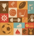 Retro Sports Icons vector image