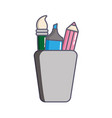 pencil holders with marker and brush vector image