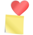 Red Heart with paper sticker vector image