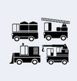 a set of car silhouettes vector image vector image