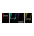 abstract gradient geometric cover designs vector image vector image